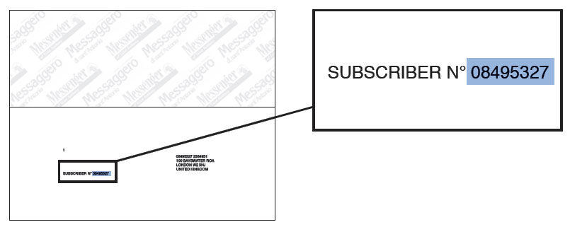 How to find your subscription number