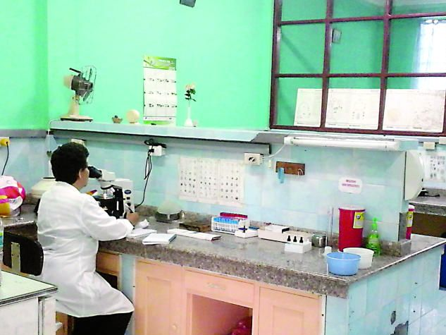 The new hospital laboratory, which is now able to assist more patients