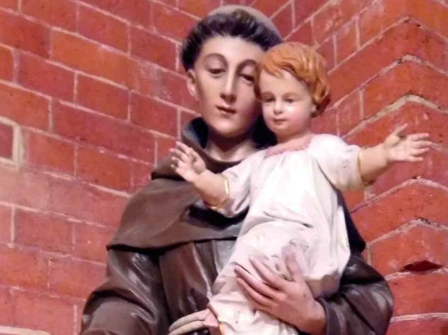Statue of St. Anthony; Corpus Christi Catholic Church, London