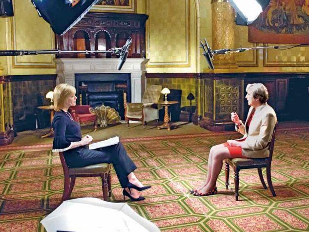 with Theresa May